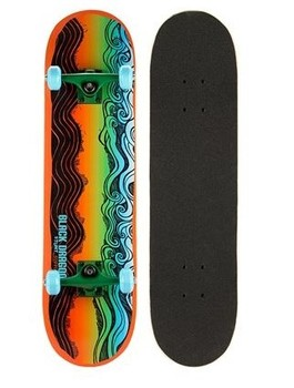 Black Dragon Skateboard - Oranje/Groen/Aqua