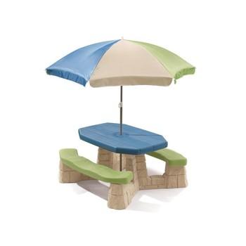 Kinder Picknicktafel Kunststof.Step2 Picknicktafel Met Parasol