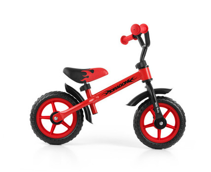 Milly Mally loopfiets Dragon - neon rood