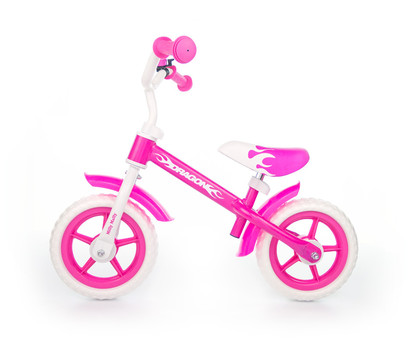 Milly Mally loopfiets Dragon - neon roze