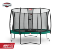 BERG Champion 430 Tattoo + Safety Net Deluxe 430 - Airflow springmat - groen