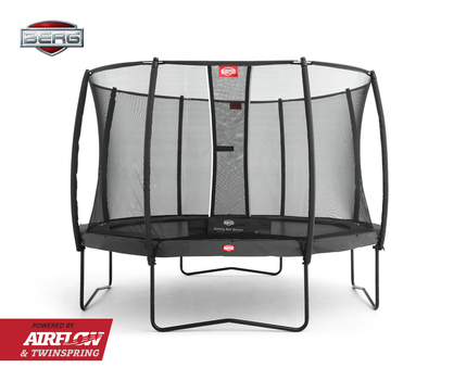 BERG Champion 330 + Safety Net Deluxe 330 - Airflow springmat - grijs