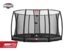BERG InGround Champion 380 + Safety Net Deluxe 380 - Airflow springmat - grijs