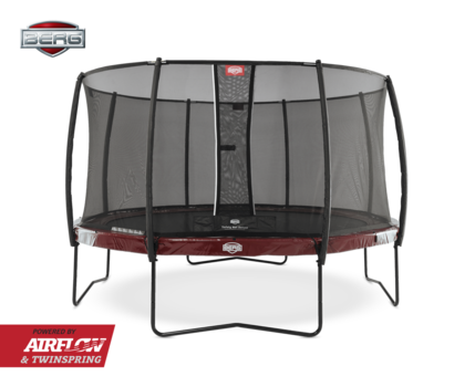 BERG Elite 380 + Safety Net Deluxe 380 - Airflow springmat - rood