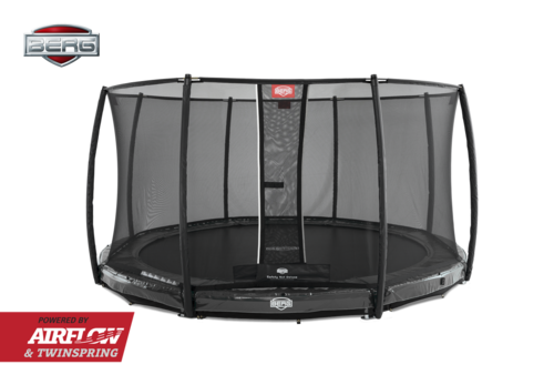 BERG InGround Elite 330 + Safety Net Deluxe 330 - Airflow springmat - grijs