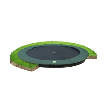 EXIT InTerra Ground Level trampoline - 366 cm - groen