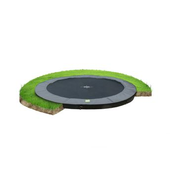 EXIT InTerra Ground Level trampoline - 366 cm - grijs