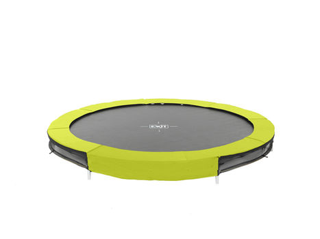 EXIT Silhouette Ground trampoline - 244 cm - lime