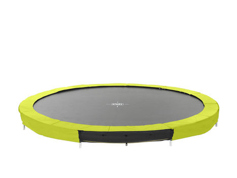 EXIT Silhouette Ground trampoline - 366 cm - lime