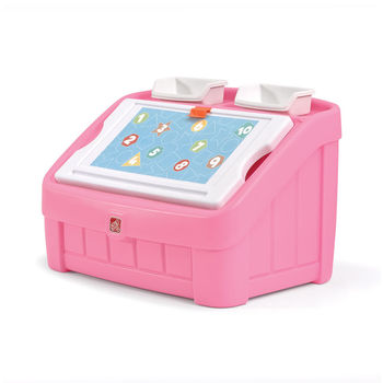 Step2 2 in 1 toy box & art lid - roze