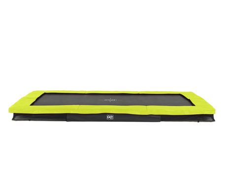 EXIT Silhouette Ground trampoline - 244 x 366 cm - lime