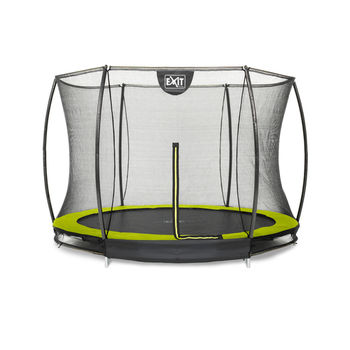 EXIT Silhouette Ground trampoline met net - 244 cm - lime