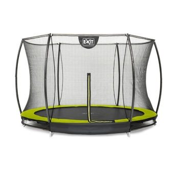 EXIT Silhouette Ground trampoline met net - 305 cm - lime