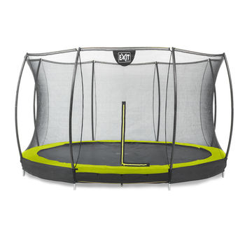 EXIT Silhouette Ground trampoline met net - 366 cm - lime