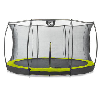 EXIT Silhouette Ground trampoline met net - 427 cm - lime