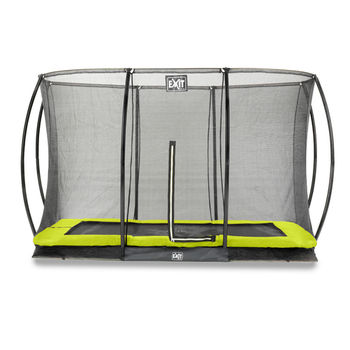 EXIT Silhouette Ground trampoline met net - 214 x 305 cm - lime