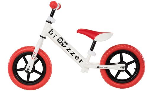 Loopfiets Broozzer Extreme Rider - wit - rood