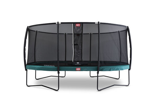BERG Grand Champion 350 x 250 + Safety Net Deluxe 350 x 250 - Airflow springmat - groen
