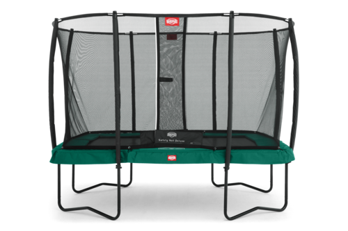 BERG Ultim Champion 330 x 220 + Safety Net Deluxe 330 x 220 - Airflow springmat - groen