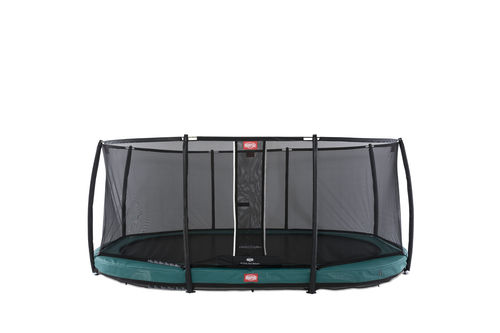 BERG InGround Grand Champion 520 x 345 + Safety Net Deluxe 520 x 345 - Airflow springmat - groen