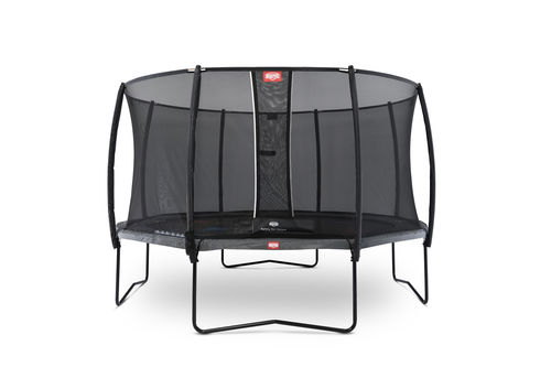BERG Champion 430 + Safety Net Deluxe 430 - Airflow springmat - grijs + Levels game