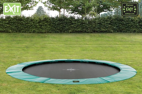 EXIT Supreme Ground Level trampoline - 427 cm - donkergroen