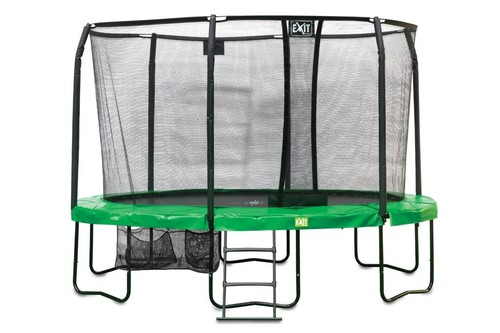 EXIT JumpArenA ovaal All-in 1 trampoline - 305 x 427 cm - groen