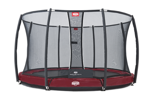 BERG Elite+ InGround rood 430 + Safety Net T-series 430