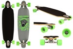 "Black Dragon Longboard 36"" Drop-through - Jungle Fever - Antraciet/Zwart/Fluorgroen"