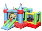 Happy Hop Castle Bouncer with Farmyard Ballpit