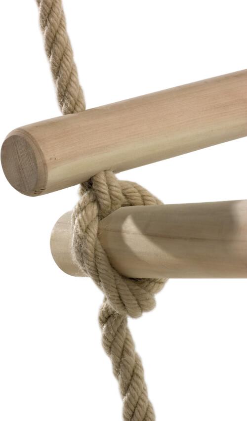 Touwladder houten sporten - 4 zijden - PH - 2.5 m (2.10 m)