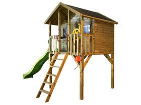 Speelhuis Big House TOM _ Glijbaan appelgroen_1