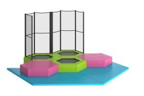 Peuter Mini Trampolinepark, 3 trampolines 1