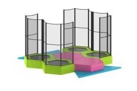 Peuter Mini Trampolinepark, 4 trampolines 1