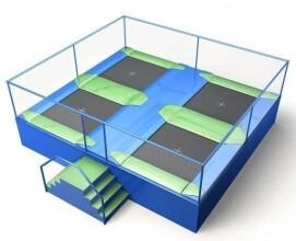 Akrobat Trampolinepark Jump Arena Small 6 x 5,3 m - 4 trampolines
