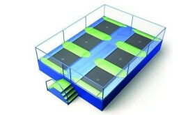 Akrobat Trampolinepark Jump Arena Small 8 x 5,9 m - 6 trampolines