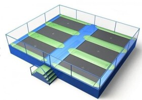 Akrobat Trampolinepark Jump Arena Large 9,7 x 8 m - 6 trampolines