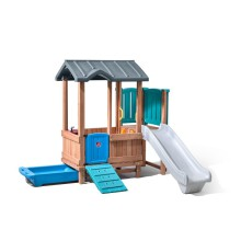 Woodland Adventure Playhouse & Slide 1
