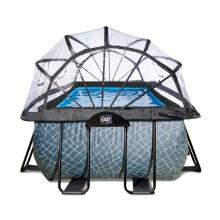 EXIT zwembad Stone 540x250x122 cm met overkapping en zandfilterpomp - grijs3